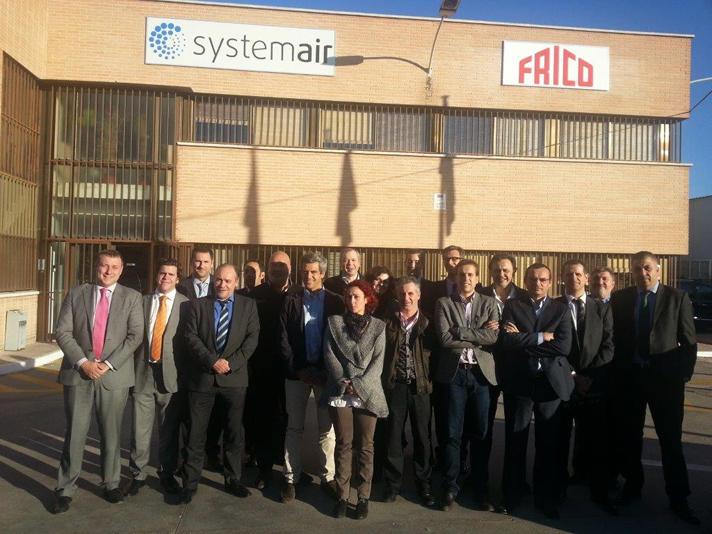Todo el equipo comercial de Systemair, en la sede central de la compañía en España