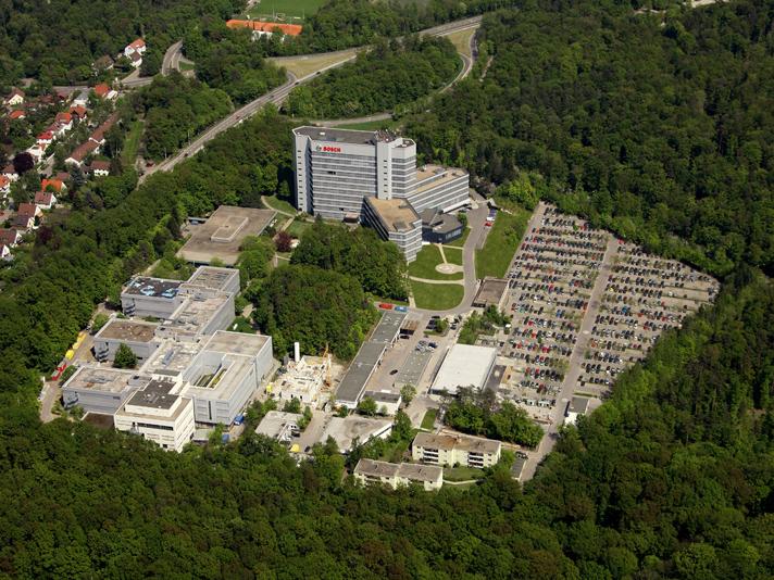 Vista aérea de la sede central del Grupo Bosch en los alrededores de Stuttgart (Alemania)