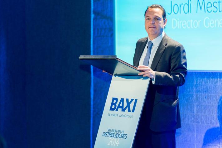 Jorge Mestres, director general de Baxi, durante la Convención Anual de la compañía