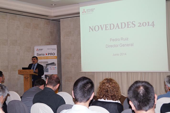 Pedro Ruiz Gómez, Director General de la División de Aire Acondicionado, en una de las presentaciones del Roadshow