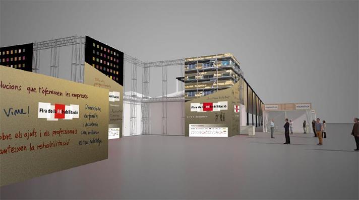 Imagen virtual de la Feria de la Rehabilitación que tendrá lugar en la Plaça de les Glòries