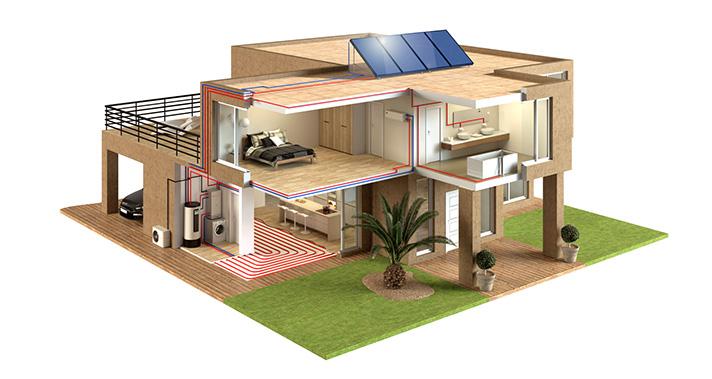 El sistema Aquatermic permite varias configuraciones y tipos de instalación