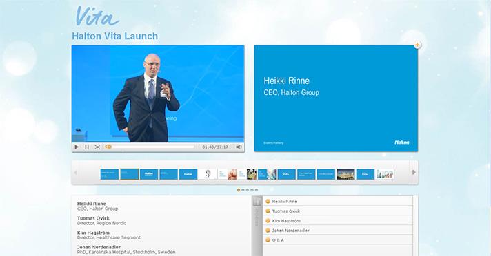 Heikki Rinne, CEO de Halton Group, durante la conferencia de prensa