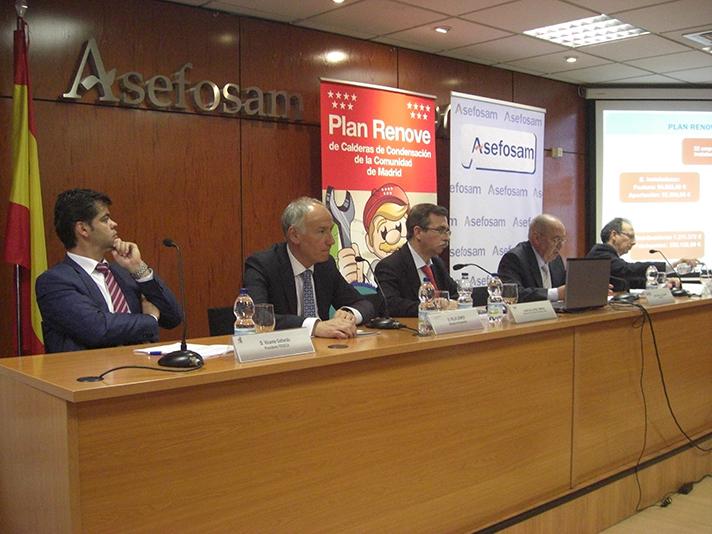 El Plan Renove de Salas de Calderas de Madrid se presentó en Asefosam