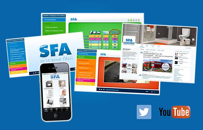 Canales de comunicación digital de SFA Sanitrit