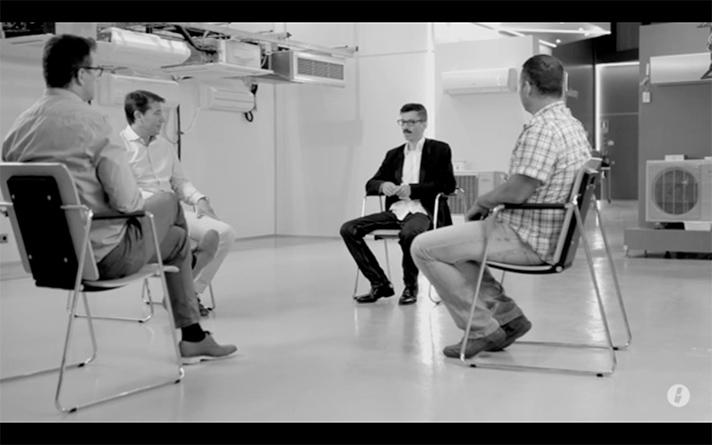 El video de General reúne a cuatro profesionales reales del sector de la climatización