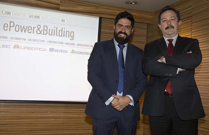 Raúl Calleja, Director de ePower&Building (izq.), y el Director General de Cepco, Luis Rodulfo