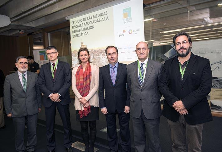 De izq. a dcha., Jordi Bolea, Jordi Esteve, María Fernández Boneta, Pedro Luis Fernández Cano, Alberto Monreal y Florencio Manteca
