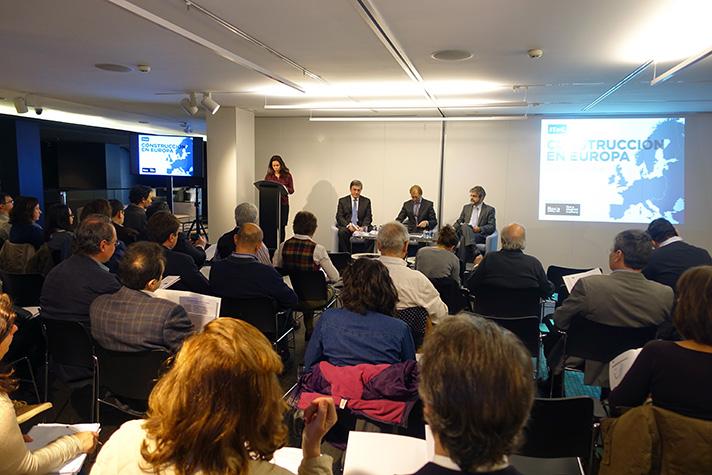 Imagen de la presentación celebrada por Euroconstruct en Madrid