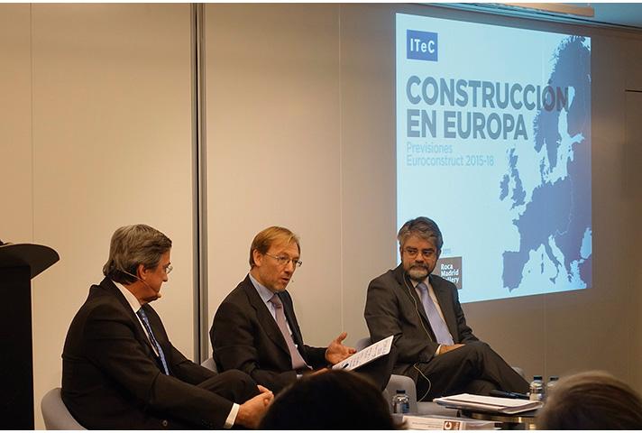 Imagen de la presentación del estudio de Euroconstruct en Madrid