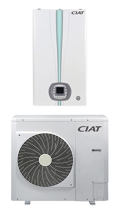 CIAT presenta la solución aire/agua partida con tecnología inverter y clasificación energética A++