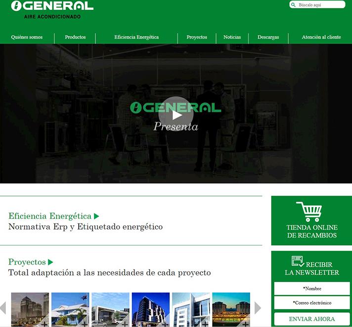 La web está disponible en www.general-climatizacion.es