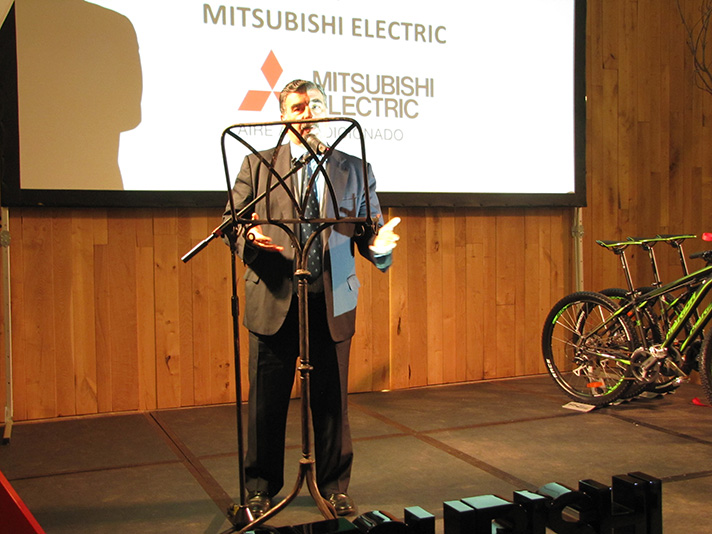Pedro Ruiz, director general de Mitsubishi Electric, durante el evento