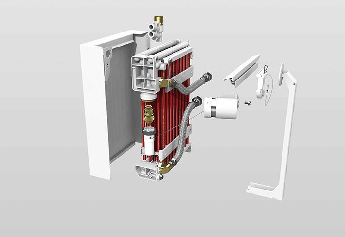 Este radiador de Zehnder se instala sin necesidad de obra
