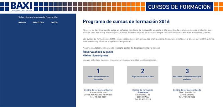 La compañía ofrecerá a los instaladores sesiones con personal cualificado en sus tres centros de formación en España