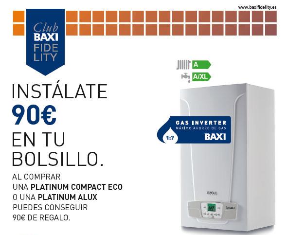 La promoción está dirigida a los miembros de Baxi Fidelity Club que adquieran una Platinum Compact ECO o una Platinum Alux
