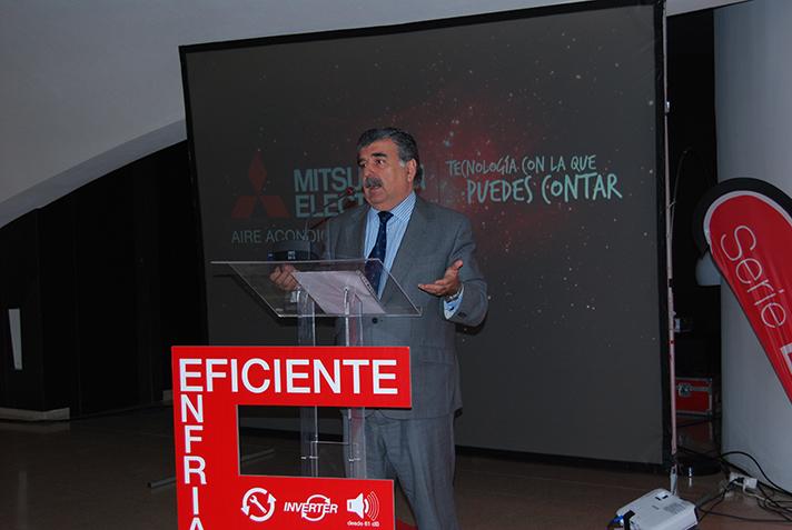 Pedro Ruiz, Director General de Mitsubishi Electric, durante la presentación celebrada en Madrid