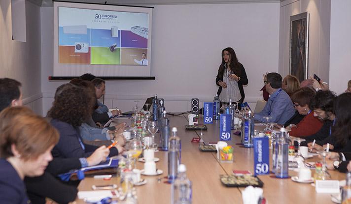 Nathalia Acevedo, Directora de Comunicación de Eurofred, durante la presentación celebrada en Madrid