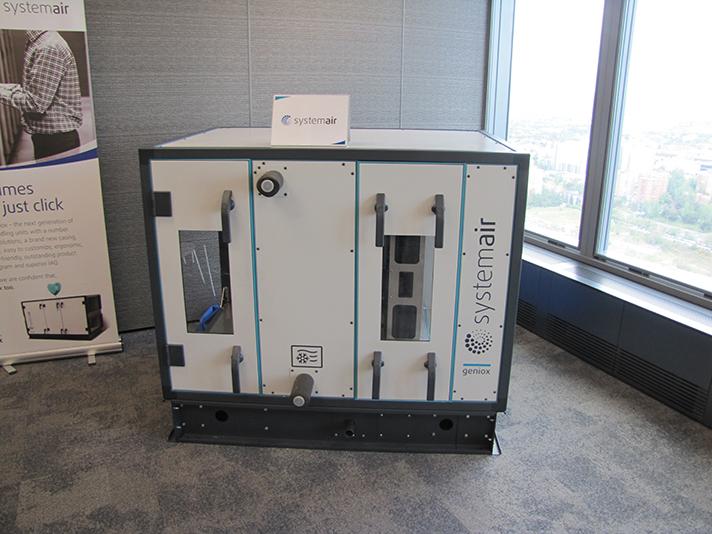 Geniox, la unidad de ventilación presentada por la compañía sueca