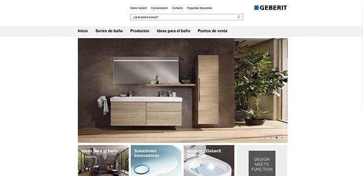 La página colecciongeberit.es está estructurada en cinco grandes apartados