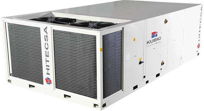 Las unidades elegidas han sido el Kubic 1602 y el 2402, con compresores scroll y ventiladores axiales