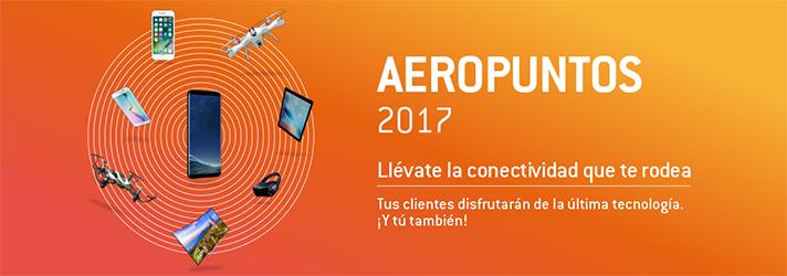 Los Aeropuntos son únicamente acumulables con los pedidos tramitados entre el 02/10/2017 y el 24/11/2017