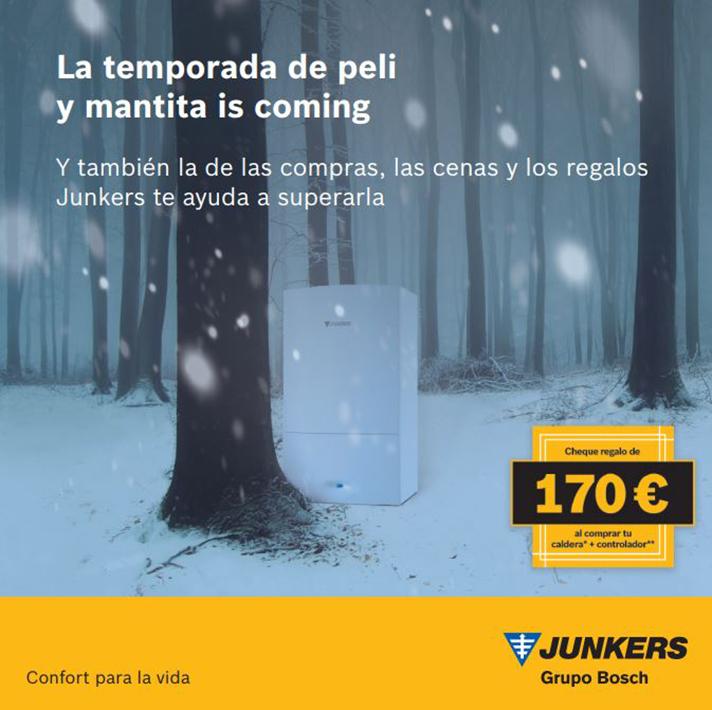 Los clientes interesados tendrán que instalar, hasta 31 de enero, una caldera Junkers en combinación con uno de los controladores de la marca