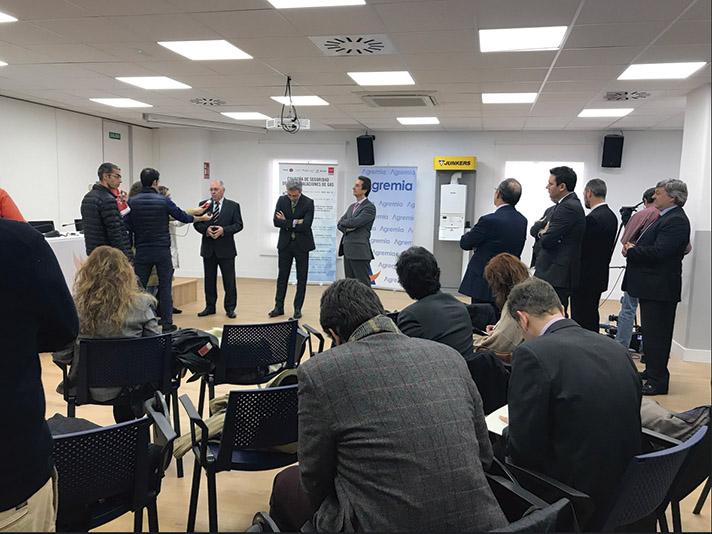 La presentación de la Campaña de Seguridad en las instalaciones de Gas 2018 se celebró en Agremia