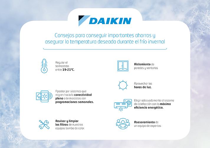 Daikin ofrece unos consejos a tener en cuenta ante el frío invernal
