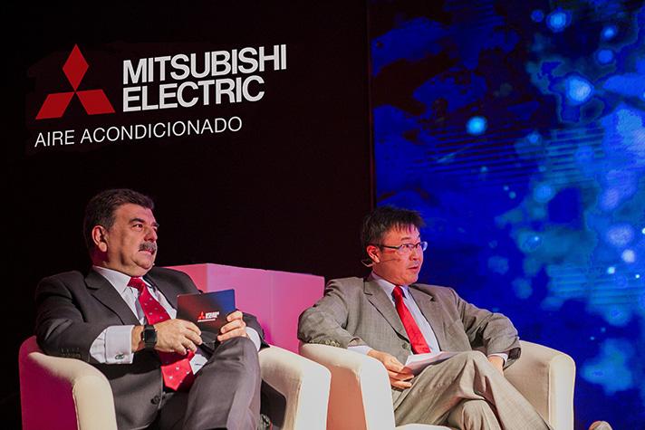 El Presidente de Mitsubishi Electric Europe Sucursal España, Masami Kusano, y el Director General de la División de Aire Acondicionado, Pedro Ruiz