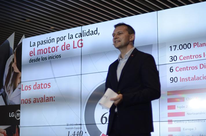 Nuno Lourenço, Director de Negocio de Aire Acondicionado de LG Electronics, durante la presentación