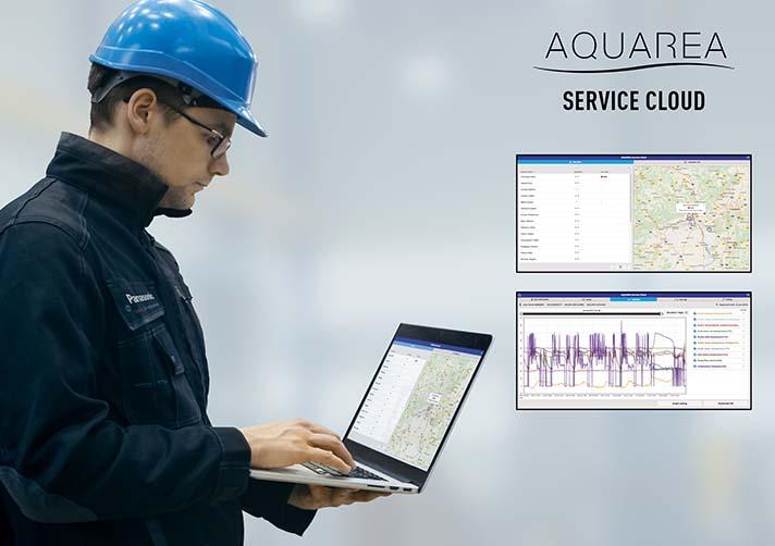 La nueva plataforma Aquarea Service Cloud evoluciona el concepto de servicio de mantenimiento o reparación de los equipos hacia un servicio inteligente vía cloud