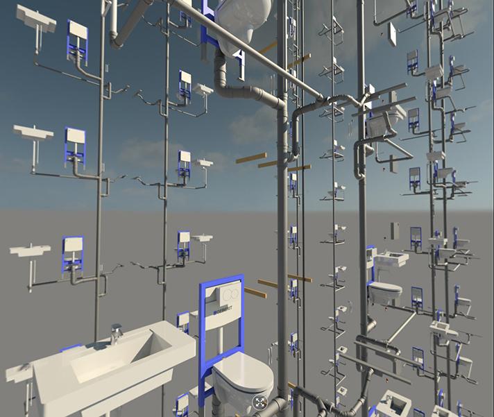 Geberit añade los productos de sus 5 series de porcelana sanitaria y muebles de baño a las familias de productos Geberit disponibles en objetos BIM