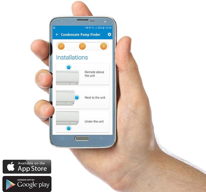El Grupo Sauermann ha lanzado la aplicación Condensate Pump Finder
