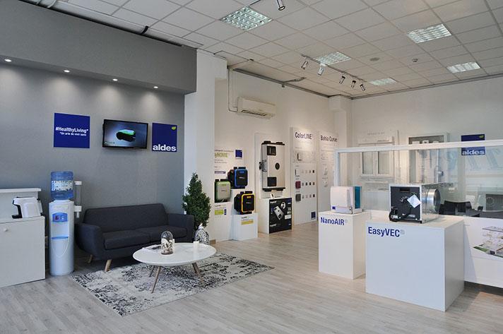 El showroom de Aldes se encuentra en sus oficinas centrales en Leganés (Madrid)