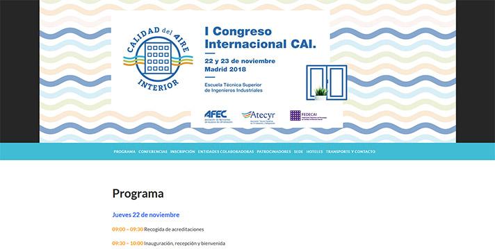 El programa completo del I Congreso CAI se encuentra disponible en el enlace http://congresocai.es/programa/