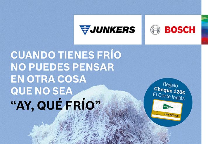 La marca del Grupo Bosch regala un cheque regalo por valor de 120 euros en El Corte Inglés para quienes compren una caldera de condensación de la gama Cerapur