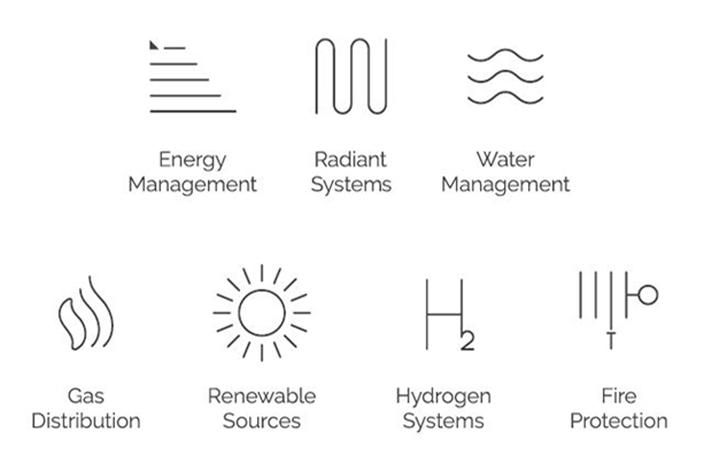 La marca ha simplificado los iconos identificativos de cada una de sus áreas de negocio