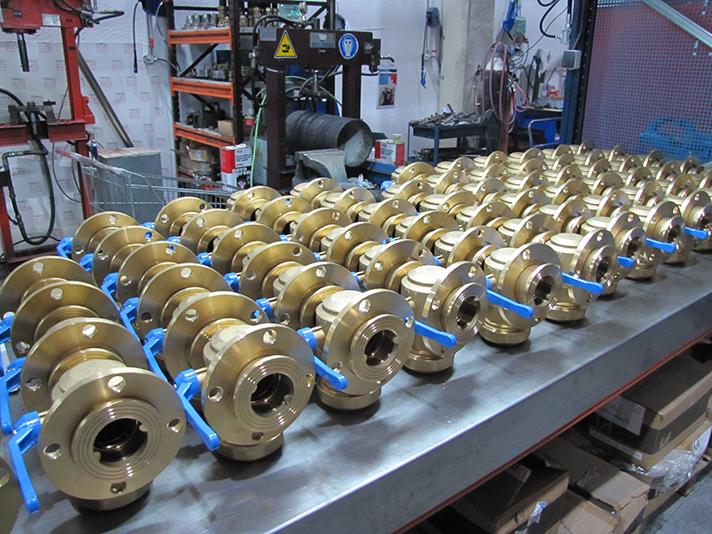 Detalle de las instalaciones de producción y montaje de Pinto