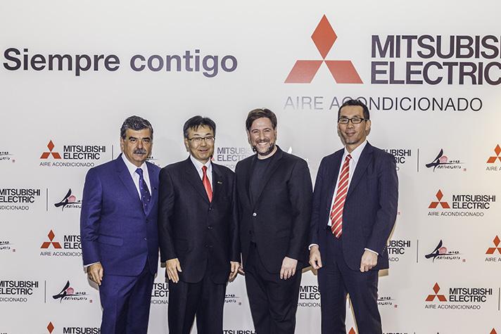 De izquierda a derecha, Pedro Ruiz, Masami Kusano, Carlos Latre y Masahiko Konishi