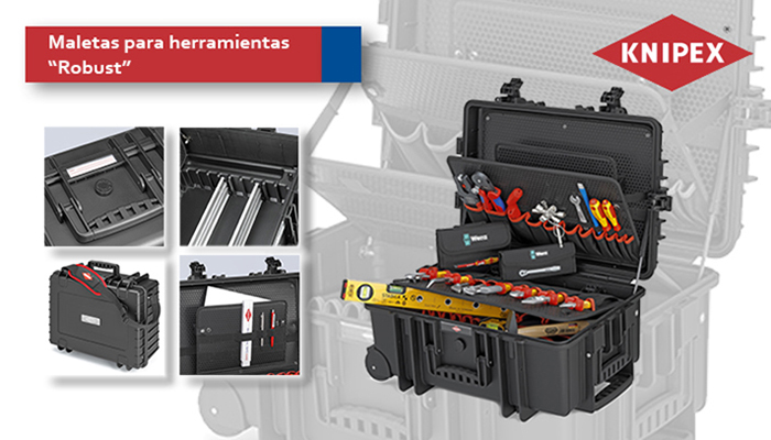La línea de maletas para herramientas Robust de Knipex cuenta con con dos nuevos modelos