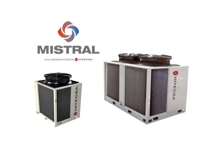 Se trata de dos equipos autónomos partidos con ventilador axial de la serie Mistral