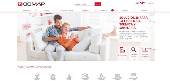 En la nueva web se puede consultar el porfolio de soluciones de una manera más eficiente