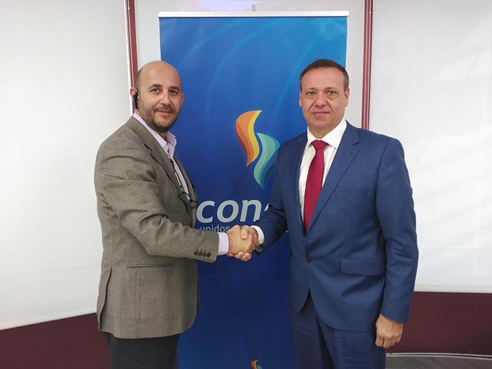 De izqda. a derecha Antonio Martínez Agudo (Avantms) y Francisco Alonso Gimeno (Conaif)