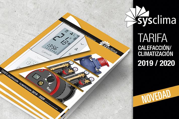 Desde la web de Sysclima se puede descargar la nueva tarifa