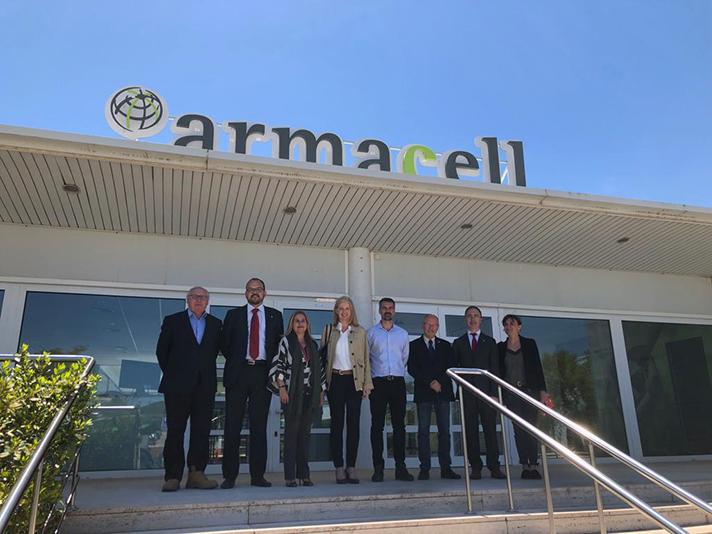 La visita a la fábrica de Armacell Iberia en Begur se produjo el pasado 14 de mayo
