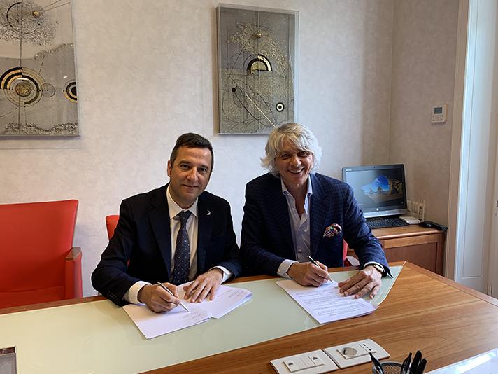 Momento de la firma entre Orkli y Gruppo Giordano