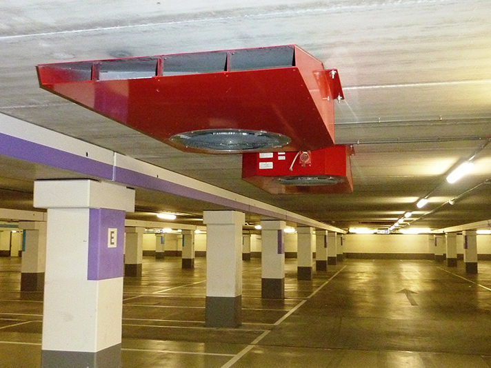 La norma aporta las especificaciones necesarias para diseñar sistemas de ventilación en aparcamientos