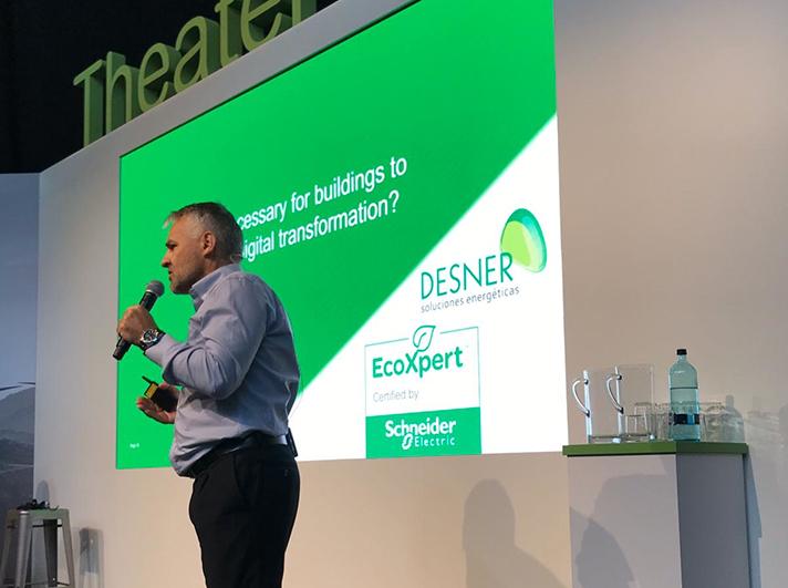 Jorge Monasterio, CEO de Desner, participando en la Expert Learning Sesion dedicada a Edificios Eficientes