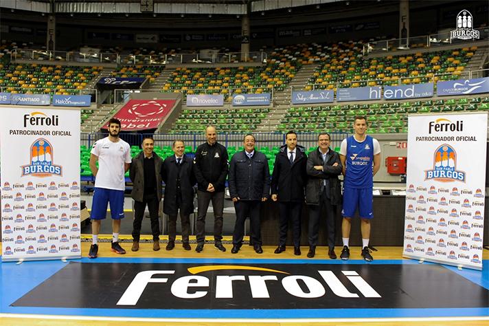 Ferroli será patrocinador oficial del Club Baloncesto San Pablo Burgos